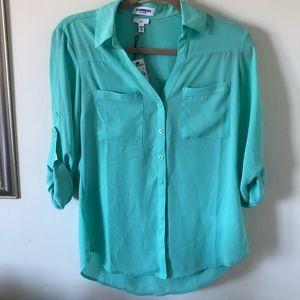 NWT EXPRESS Turquoise Shirt